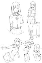Ilmu Pengetahuan 7: Anime References Poses
