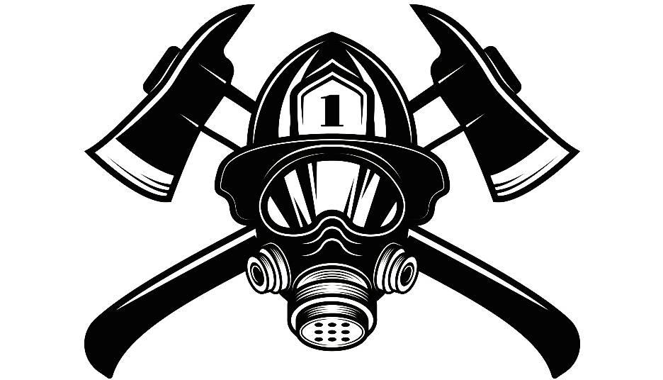 firefighter helmet drawing at