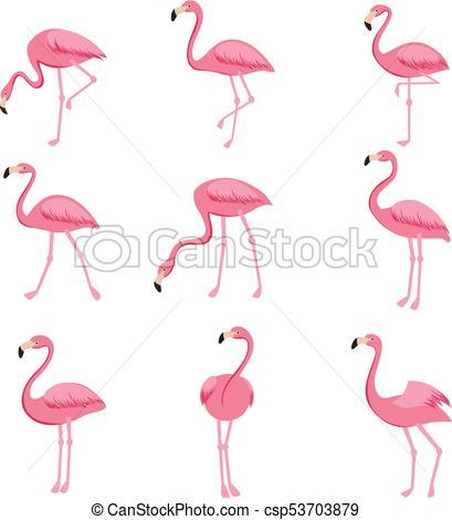 flamingo cartoon drawing at
