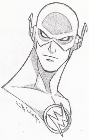 superhero flash drawing easy drawings paintingvalley