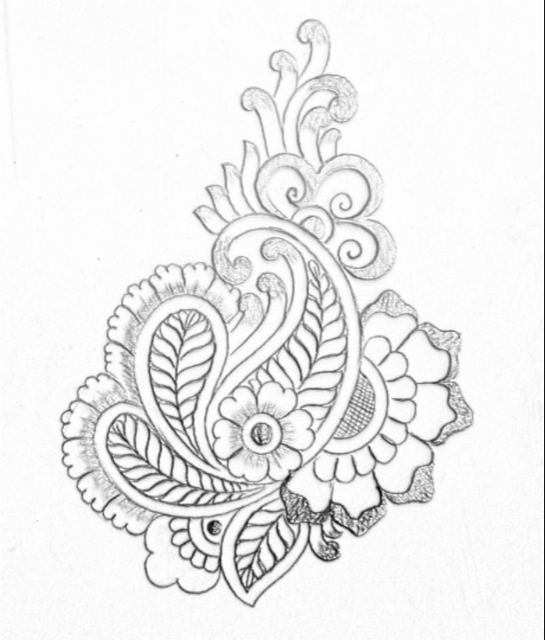 flower design drawing at