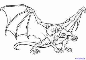 dragon draw cool drawing drawings step dragons easy simple pencil head line sketches clipart devil sheet paintingvalley wings getdrawings compact