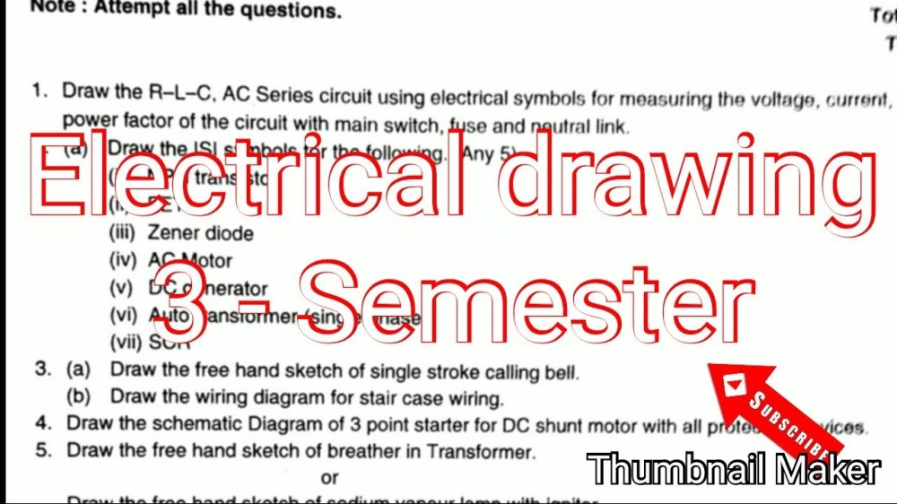 medium resolution of 1280x720 electrical engineering drawing paper semester isi symbols free electrical drawing