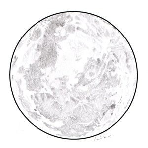 moon drawing easy drawings galaxy graphite paintingvalley