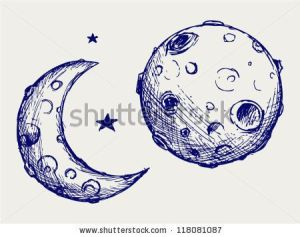 moon doodle craters lunar easy drawing shutterstock drawings vector cartoon sketches crater raster version vectors royalty paintingvalley aleks melnik via