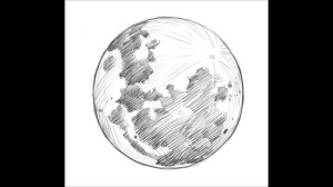 moon drawing easy pencil sketch draw realistic drawings moonlight planets paintingvalley