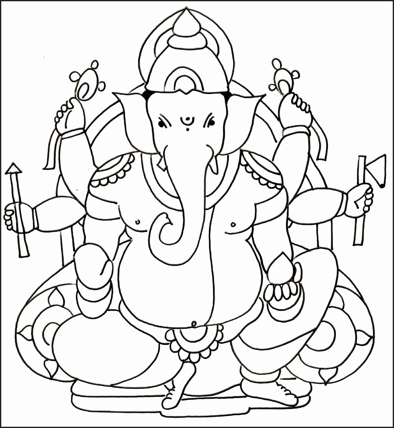 Ganesha Color Drawing At Paintingvalley