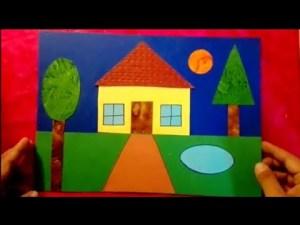 shapes geometric drawing scenery creative drawings using geometrical easy step painting things circle preschool theme teaching