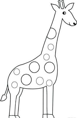 giraffe drawing easy sketch outline coloring drawings clipart cliparts pages sketches draw simple zebra step clip mosaic paintingvalley beginners pictura