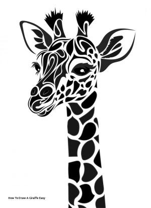 giraffe easy drawing draw drawings funny paintingvalley giraff