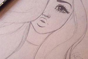 drawing easy drawings girly teenage paintingvalley explore fun