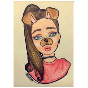 easy drawings drawing teenage simple looking girly