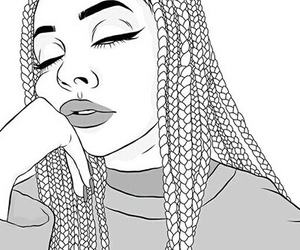 girl outline drawing at