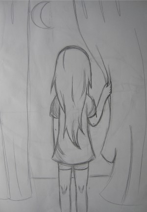 sad drawing drawings easy pencil draw paintingvalley