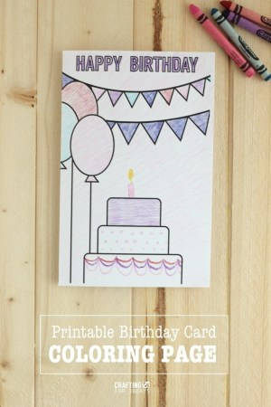 birthday card happy cards draw easy printable drawing coloring designs pages mom fun diy homemade creative bday drawings simple thirtyhandmadedays