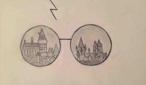potter harry drawing drawings sketch easy simple hogwarts sketches pencil painting pot google rajzok wizard tattoo mentve innen xyz rajz