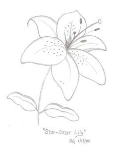 hawaiian flower drawing at