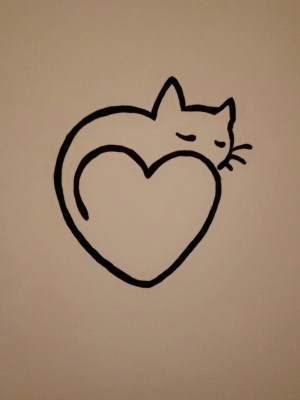 easy drawing hearts simple heart drawings paintingvalley cat painting explore wall