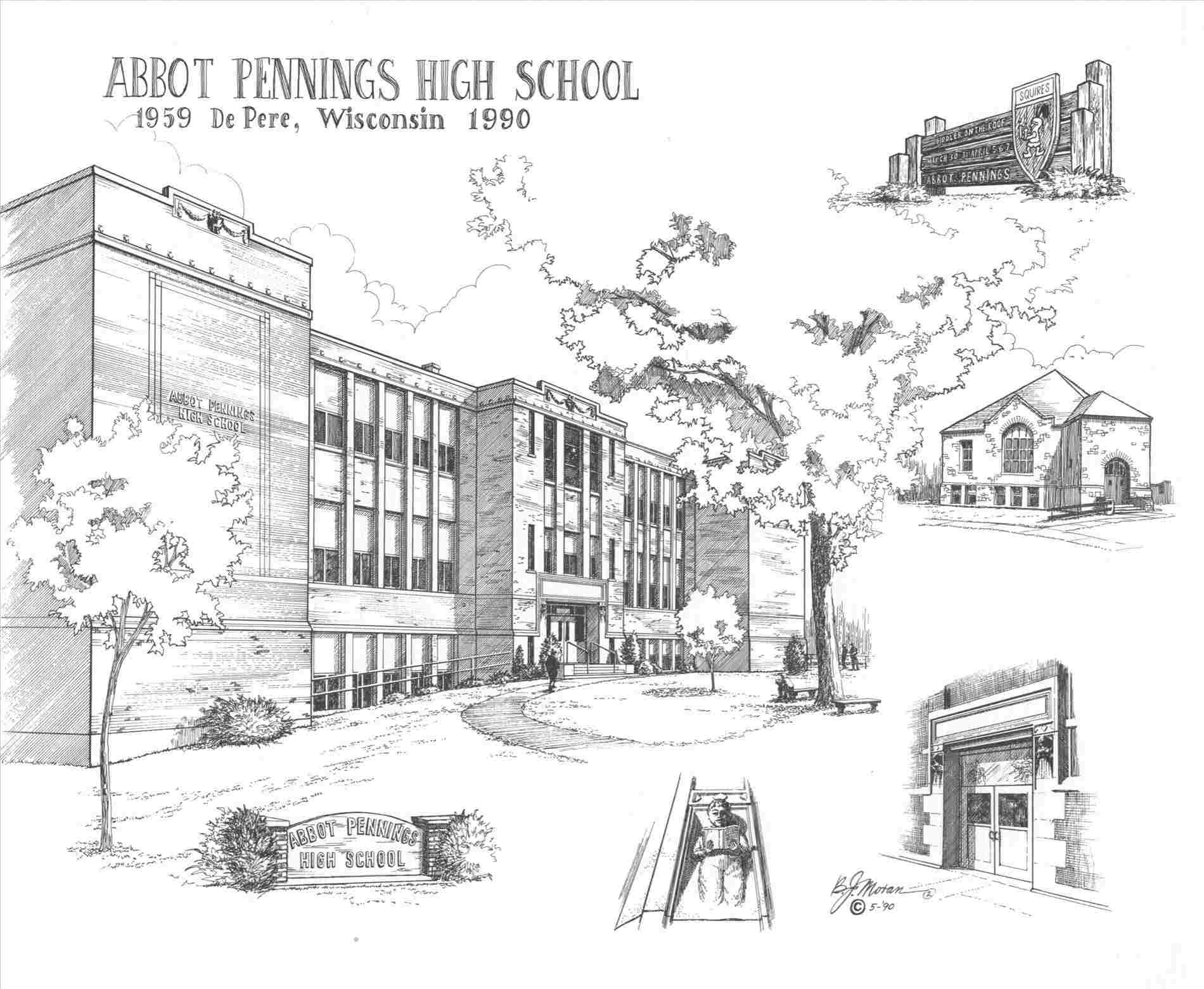 High School Building Drawing At Paintingvalley