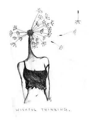 indie drawings hipster sketch thinking wishful dandelion pale sketches paintingvalley