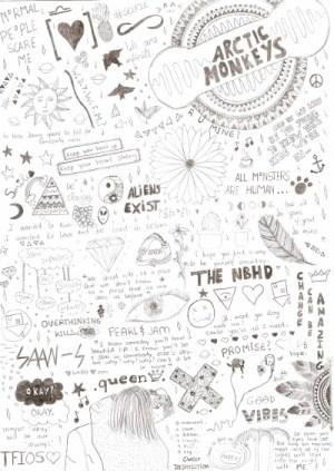aesthetic doodles drawings easy indie paintingvalley explore