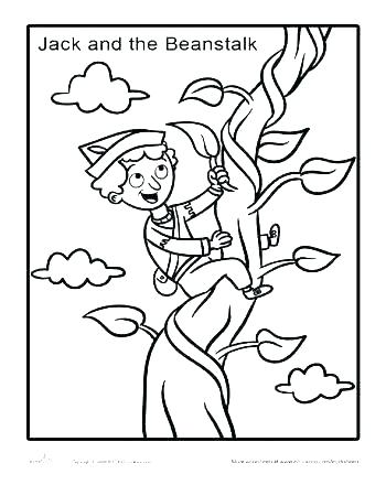 jack and the beanstalk coloring pages # 10