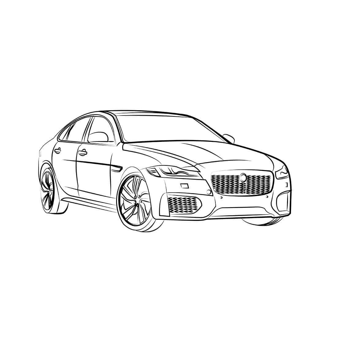 Jaguar Outline Drawing At Paintingvalley