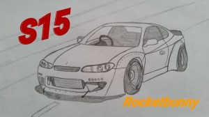 jdm draw drawings easy nissan silvia s15 paintingvalley