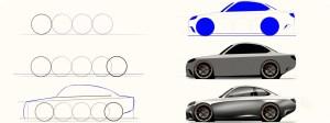 drawing jdm easy step wheeler wheel wheels sketch drawings cars draw paintingvalley sketches
