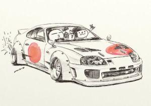 jdm supra toyota drawings illustration drawing cars cartoon japanese crazy mame rock ozizo japan getdrawings draw stickers coloring paintingvalley artwork
