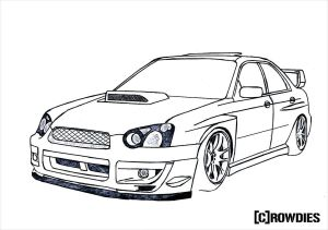 jdm drawings drawing cars subaru impreza sti sketch line cool sketches wrx zeichnung draw outline colouring wallpapers paintingvalley coloring nissan