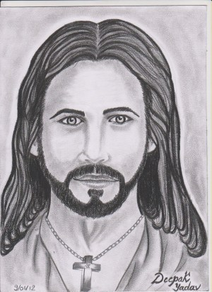 jesus drawings christ pencil drawing sketch easy face colored sketches cool drawingartpedia realistic desipainters
