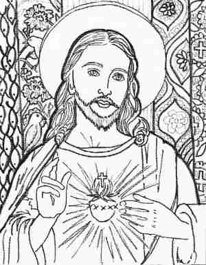 coloring pages jesus easy christ face drawing pencil adults sketch adult sketches line cross printable drawings step paintings jacob lawrence