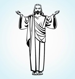 1024x769 jesus christ vector art graphics jesus line drawing [ 1024 x 769 Pixel ]