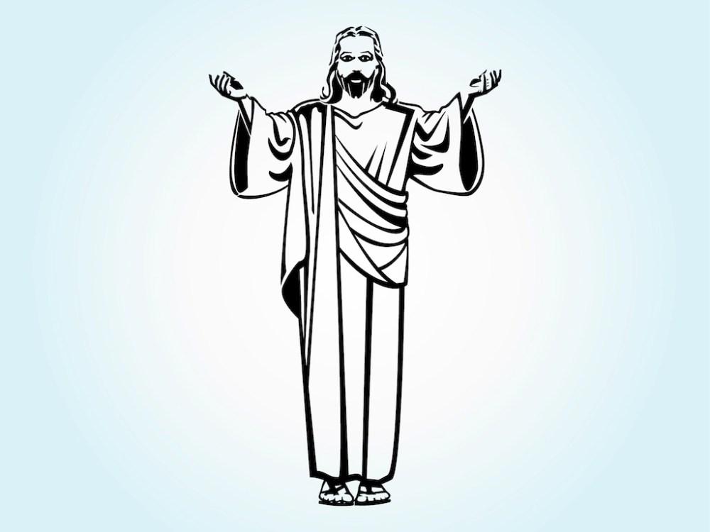 medium resolution of 1024x769 jesus christ vector art graphics jesus line drawing