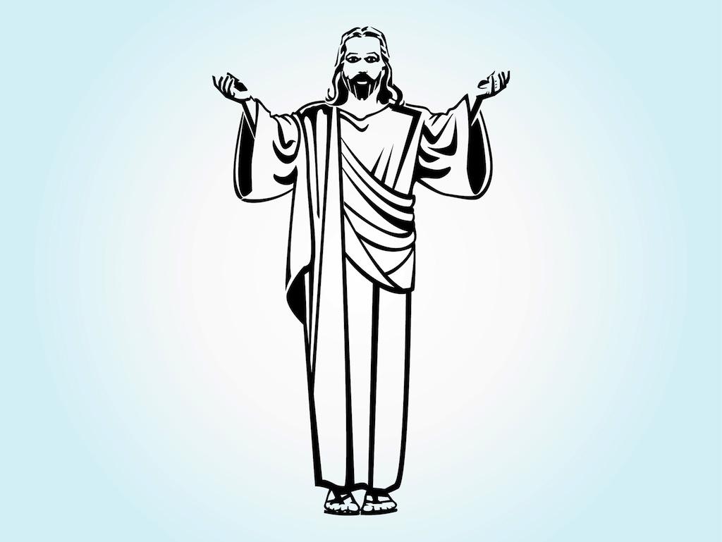 hight resolution of 1024x769 jesus christ vector art graphics jesus line drawing