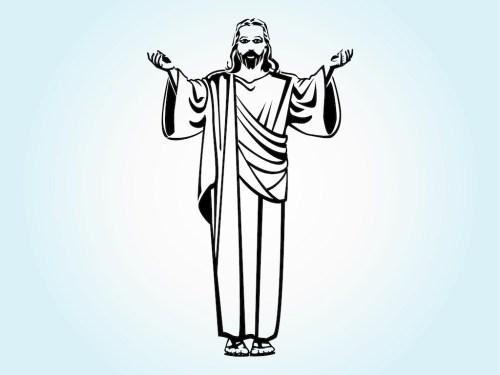 small resolution of 1024x769 jesus christ vector art graphics jesus line drawing