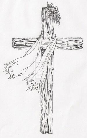 jesus cross easy drawing drawings paintingvalley