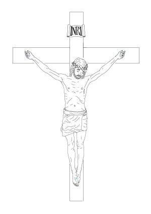 cross easy drawing jesus crucifix sketch sketches drawings paintingvalley lattanzio chris ink down