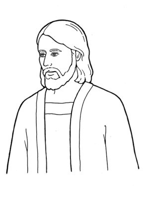 jesus christ lds simple coloring drawing clipart pages face sketch symbols pencil nursery primary line manual drawings clip whitaker beth