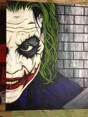 joker drawings drawing painting canvas simple acrylic sketches batman paintings heath ledger sketch easy pop paintingvalley sherpa paint graffiti halloween