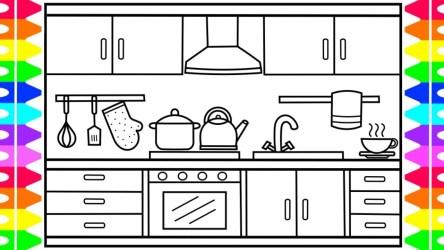 Cartoon Kitchen Drawing