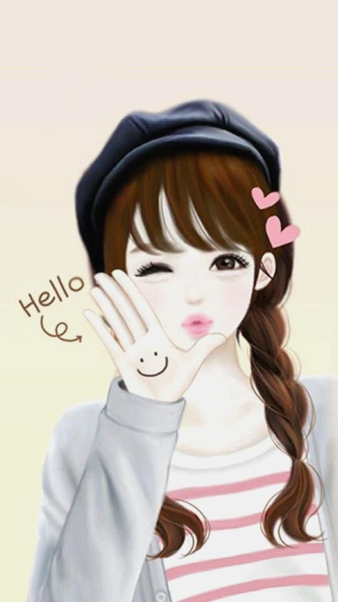 korean cartoon girl drawing 2