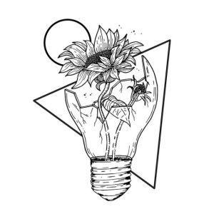 bulb drawing drawings paintingvalley