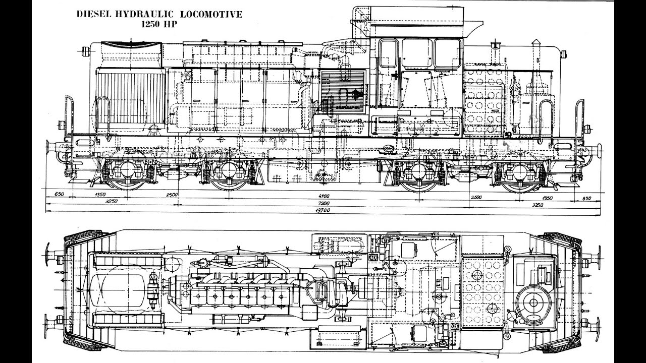 hight resolution of locomotive drawing