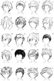 male anime hairstyles drawing