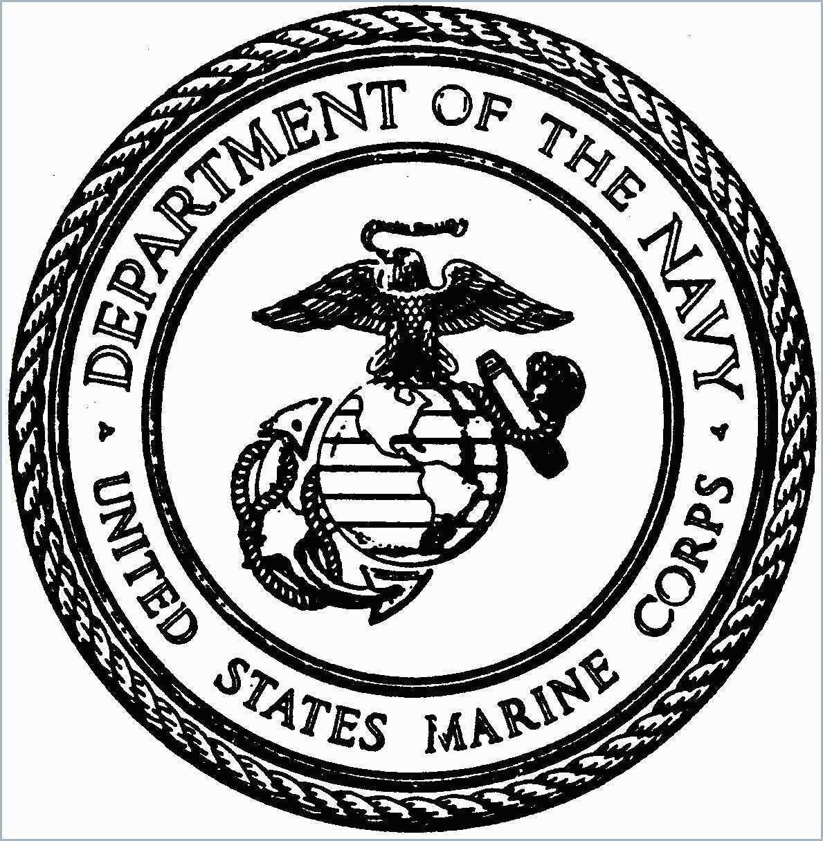 marine corps logo drawing