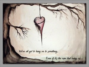 lonely meaningful drawings hanging deviantart mrs sad does death heart loneliness hanged broken paintingvalley lost dice god play