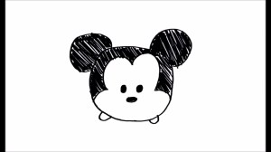 easy simple drawing disney drawings draw mouse mickey tsum tutorial sketches paintingvalley stuff explore