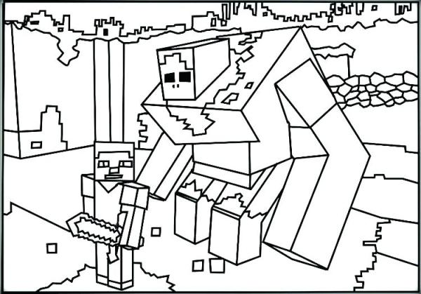 minecraft printables coloring pages # 60
